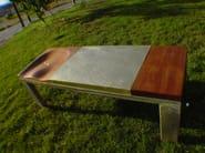 Oak bench BRASS BUM - ICI ET LÀ