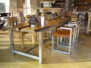 Rectangular wooden table DISECTION - ICI ET LÀ