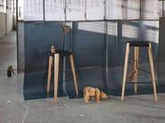 High beech stool SPUTNIK - Zilio Aldo & C.