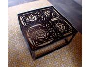 Low square steel coffee table FLOR DE LYS - ICI ET LÀ