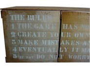 Industrial style steel sideboard THE RULE BOX   Industrial style sideboard - ICI ET LÀ