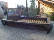 Wooden double bed OAK FRAME - ICI ET LÀ