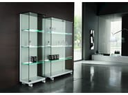Crystal display cabinet with casters MEDORA - T.D. Tonelli Design