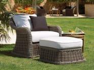 Upholstered garden armchair with armrests HAVANA | Garden armchair - Gloster