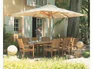 Teak garden chair with armrests KINGSTON | Garden chair with armrests - Gloster