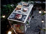 Stainless steel outdoor kitchen with Grill LIBERI IN CUCINA | Outdoor kitchen - ALPES-INOX