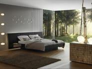 Leather bed with upholstered headboard EKO | Bed - La Maison Turrini