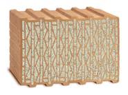 Loadbearing clay block UNIPOR W08 CORISO - LEIPFINGER-BADER