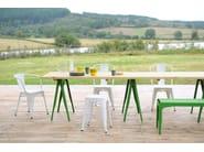Stackable metal garden bench Y | Metal bench - Tolix Steel Design