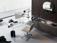 Crystal writing desk AIR DESK 1 - Gallotti&Radice