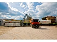 Concrete mixer and system TECNOMIX mobile concrete batching plant - SAMI