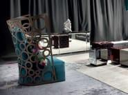 Upholstered armchair with headrest ICONA - ERBA ITALIA