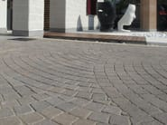 Cement outdoor floor tiles with stone effect MOTIVI - FAVARO1