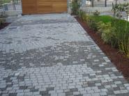 Cement outdoor floor tiles with stone effect LITHOS - FAVARO1