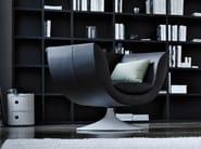 Swivel armchair with fire retardant padding SPLINE | Swivel armchair - ESTEL GROUP