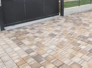 Cement outdoor floor tiles with stone effect COUNTRY ANTICATO - FAVARO1