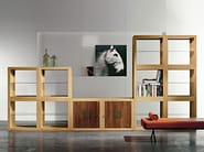 Oak bookcase / display cabinet TECA - ESTEL GROUP