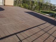 Cement outdoor floor tiles with wood effect DOGA 50x50 - FAVARO1