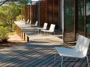 Sled base garden armchair TRENZA | Garden armchair - Andreu World