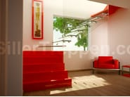 Self supporting Glass and Stainless Steel Open staircase STYLEMIX - Siller Treppen