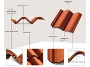 Cement Roman and flat roof tile COPPO DEL BORGO® - MONIER
