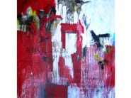 Acrylic on canvas AFINA EL CORAZON - ICI ET LÀ
