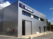 Insulated metal panel for facade TERMOPARETI® RUGBY - ELCOM SYSTEM