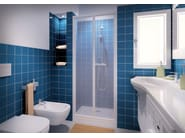 Niche shower cabin with folding door CLASSIC SOF - MEGIUS
