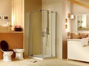 Corner shower cabin with hinged door MUST A - MEGIUS