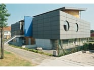 Metal sheet and panel for facade CASSETTE VMZINC® - UMICORE BUILDING PRODUCTS ITALIA