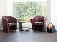 Upholstered guest chair PODIUM | Easy chair - ESTEL GROUP