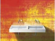Double wall-mounted ceramic washbasin PREMIUM 150 | Washbasin - CERAMICA CATALANO