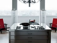 Stainless steel kitchen unit with hobs LIBERI IN CUCINA | Stainless steel kitchen unit - ALPES-INOX