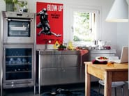 Liberi in cucina stainless steel kitchen unit by alpes inox design nico moretto - Liberi in cucina ...