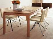 Swivel trestle-based easy chair WAVE 901 - Tonon