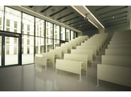 Beam seating with tip-up seats PLATONE - ESTEL GROUP