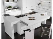 Lacquered Corian® kitchen with island ESSENTIAL QUADRA - TONCELLI CUCINE