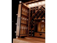 Inlaid wood bar cabinet for wines WINE TOWER - TONCELLI CUCINE