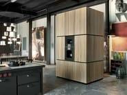 Solid wood high cabinets with oven NATURAL SKIN MONOLITI | Kitchen unit - Minacciolo