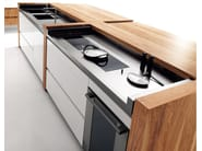 Olive wood kitchen with island ESSENTIAL WOOD - TONCELLI CUCINE