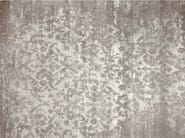 Patterned handmade custom rug TAJ MAHAL SILVER - EDITION BOUGAINVILLE