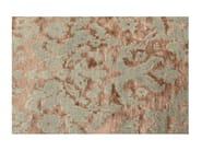 Patterned handmade custom rug TAJ MAHAL AQUA - EDITION BOUGAINVILLE