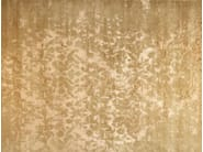 Patterned handmade rectangular rug TAJ MAHAL GOLD - EDITION BOUGAINVILLE