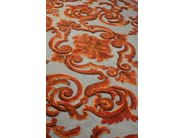 Patterned rectangular rug CARDINAL COQ DE ROCHE - EDITION BOUGAINVILLE