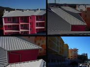 Insulated metal panel for roof MONO PENTA FALDA - ITALPANNELLI