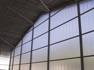 Multiwall polycarbonate modular system for vertical windows POLYCARBONATE ARCOPLUS® 324 - dott.gallina