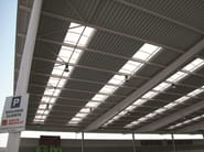 Translucent skylight manufactured with arcoPlus 1000 Curvo
