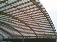 Translucent continuous curved roofing manufactured with arcoPlus® MiniGRECA Curvo