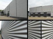 Insulated metal panel for facade SUPER TOP ONDULATO - ITALPANNELLI