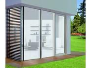Aluminium and wood lift and slide window UNI_ONE HS-ZERO - Sistema UNI_ONE